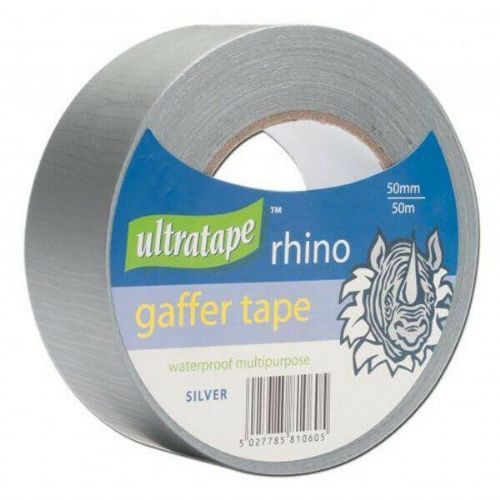 Ultratape Rhino Gaffer Tape 50mm x 10mtr Silver Box of 10